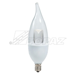 Topaz – 79863 LCFC/5/830/D-33C Dimmable Flame Tip LED, Topaz LCFC/5/830/D-33C, Topaz #79863, 4.7 Watt Dimmable LED CFC Chandelier Bulb E12 Base, Topaz 79863