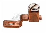 "Topaz - 823 Single Barrel Solderless Lug 1/4"" Bolt Size,Topaz #823, Topaz 823, Single Hole Offset Tang Copper Solderless Lug, 70-90 Amp rated, Topaz #823 Copper 70-90 Amp Solderless Lug"