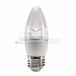 Topaz – LETC/3/830/D-46 Dimmable Blunt Tip LED,Topaz LETC/3/830/D-46, Topaz #79989, 3 Watt Dimmable LED ETC Chandelier Bulb E26 Base, Topaz 79989