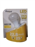 Whirlpool 60W Equivalent LED A19 Dimmable General Household Bulb,WA19L27S2B, Whirlpool LED Bulb #WA19L27S2B