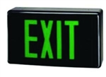 Green & Black LED Exit Sign w/Battery Backup, XE2GB-EM, LED Exit Sign #XE2GB-EM