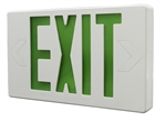 Green & White LED Exit Sign w/Battery Backup, XE2GW-EM, LED Exit Sign #XE2GW-EM