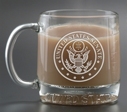 Custom Deep Etched Logo Mug America