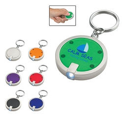 Custom LED Round Key Chain
