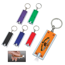 Custom LED Rectangular Key Chain