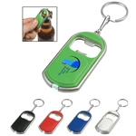 Custom Bottle Opener LED Light Key Chain