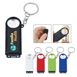 Custom Magnifier Key Chain w-Dual LED Lights