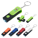 Custom Swivel Stylus Key Chain w-LED Light