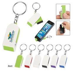 Custom Screen Cleaner & Phone Stand Combo Keychain