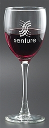 Custom Tall Stem Deep Etched Wine Glass 8.5oz