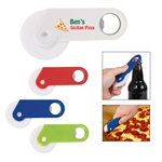 Custom Pizza Cutter w-Bottle Opener