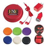 Custom 3 In 1 Round Shaped Travel Kit