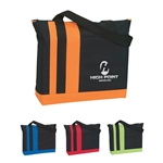 Promotional Tri-Band Polyester Tote Bag