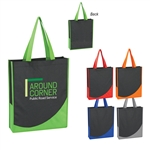 Promotional Non-Knitted Tote Bag w-Accent Trim