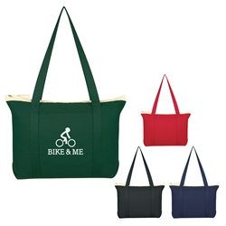 Promotional Cotton Shoulder Zippered Tote