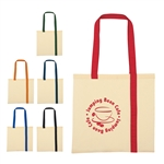 Promotional Economy Cotton Striped Canvas Tote