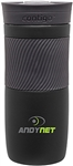 Custom Contigo Byron Matte Black Steel Bottle 16oz