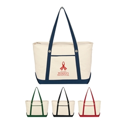 Promotional Cotton Canvas Large Sailing Tote