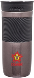 Custom Contigo Byron Gun Metal Steel Bottle 16oz