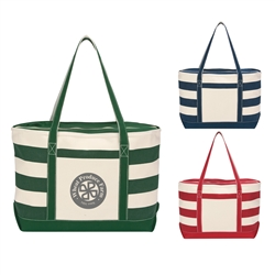 Promotional Cotton Canvas Zippered Nautical Tote