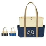 Promotional Tri-Color Polyester Tote Bag