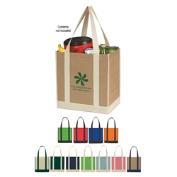 Promotional Two-Tone Non-Woven Shopper Tote Bag