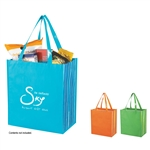 Promotional Non-Knitted Shiny Laminated Tropic Shopper Tote
