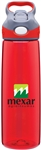 Custom Contigo Addison Red Copolyester Bottle 24oz