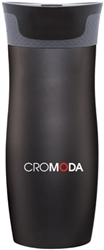 Custom Contigo Matte Black West Loop Steel Bottle 16oz