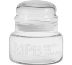 Custom Deep Etched Apothecary Jar 8oz