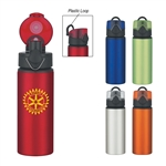 Custom Aluminum Sports Water Bottle w-Flip Top Lid 25oz