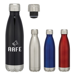 Custom Stainless Steel NEW Vacuum Water Bottle 16oz