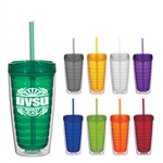 Custom Double Wall Econo Tumbler w-Straw and Lid 16oz