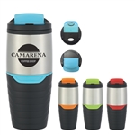 Custom Stainless Steel Tumbler w-Flip Lock Lid 16oz