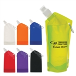 Custom Collapsible Flat Bottle w-Carabiner 28oz
