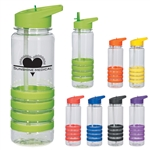 Custom Banded Gripper Water Bottle w-Straw 24oz