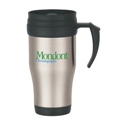 Custom Stainless Steel Insulated Travel Mug w-Slide Action Lid 16oz