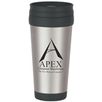 Custom Stainless Steel BPA Free Tumbler w-Slide Action Lid 16oz