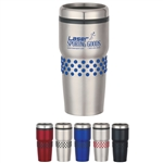 Custom Stainless Steel Tumbler w-Dotted Rubber Grip 16oz