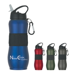 Custom Sport Grip Stainless Steel Water Bottle 28oz