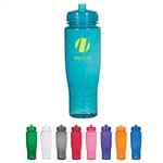 Custom Poly Clean Plastic Water Bottle 28oz