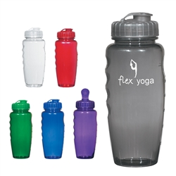 Custom Poly Clear Gripper Water Bottle 30oz