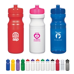 Custom Poly Clear Fitness Water Bottle 24oz
