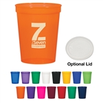 Custom Stadium Cup w-Optional Lid 16oz