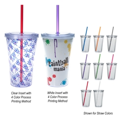 Custom Acrylic Double Wall Tumbler w-Insert16oz