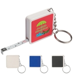 Custom Square Shaped Tape Measure w-Key Tag