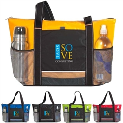Personalized Icy Bright Logo Cooler Tote