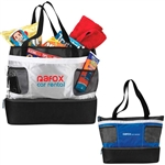Personalized Double Decker Logo Cooler Tote