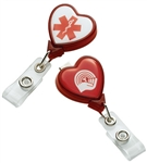 Personalized Heart C5-SN Badge Holder w-Slide Clip