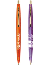 Promotional Clear Clics® BIC® Gold Ballpoint
